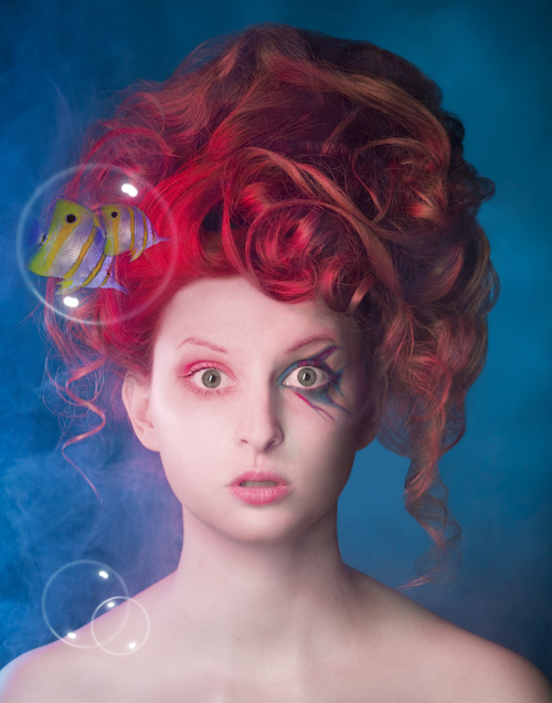Model with Delirium-inspired makeup and hair