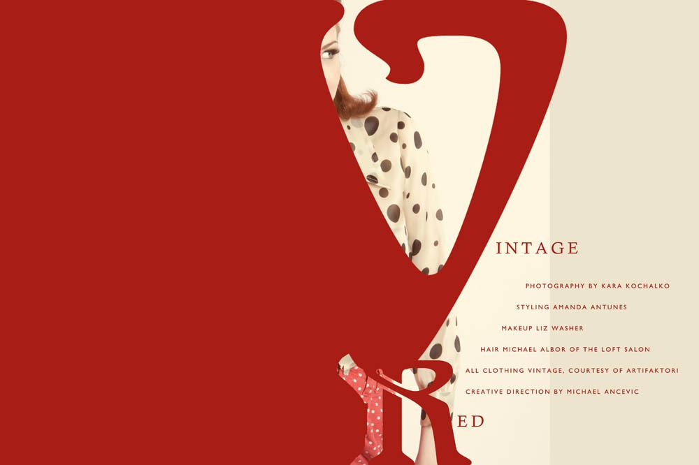 Vintage redhead fashion editorial 1960s