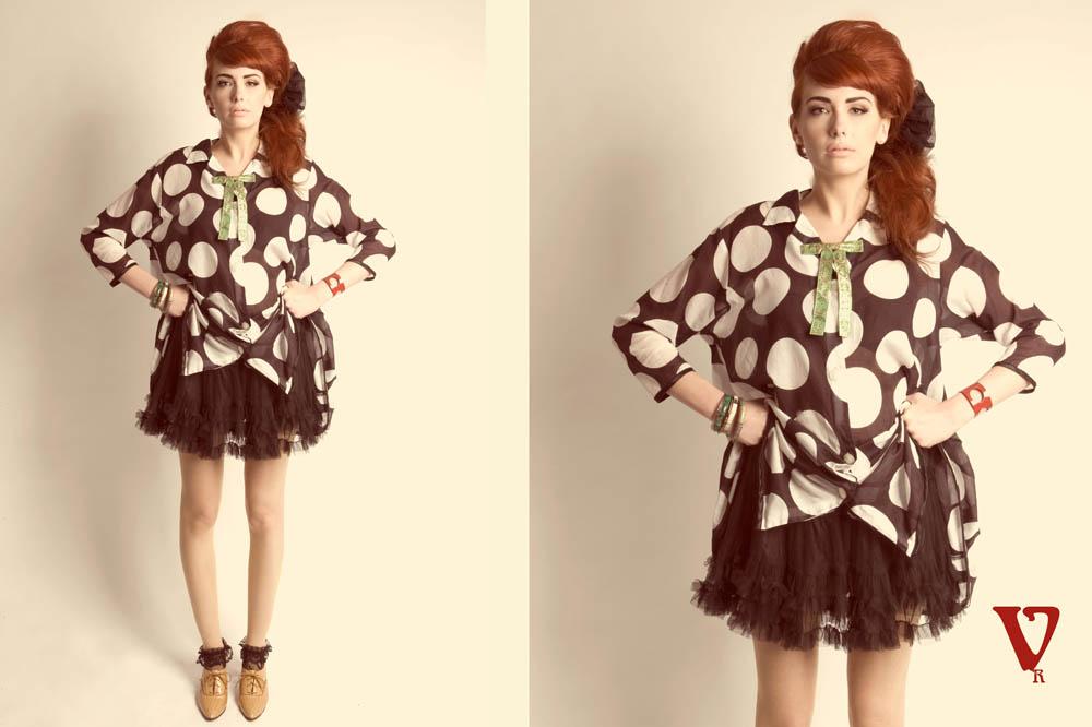vintage 1960s mod makeup polka dot wardrobe