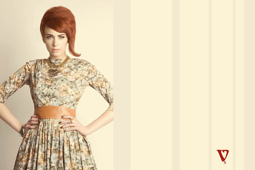 vintage redhead 1960s fashion editorial