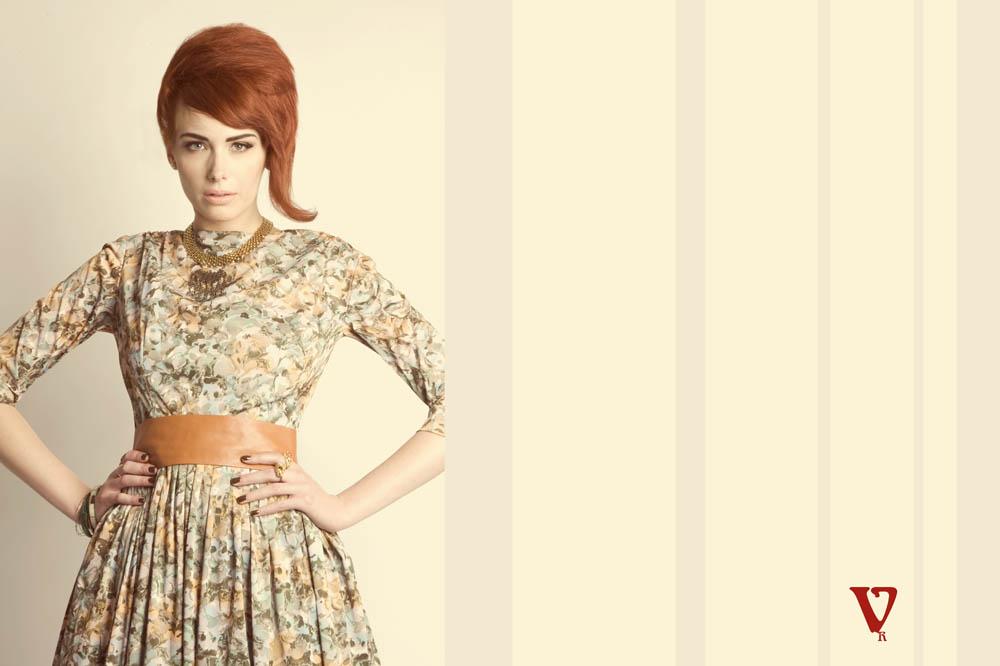 vintage redhead 1960s fashion editorial