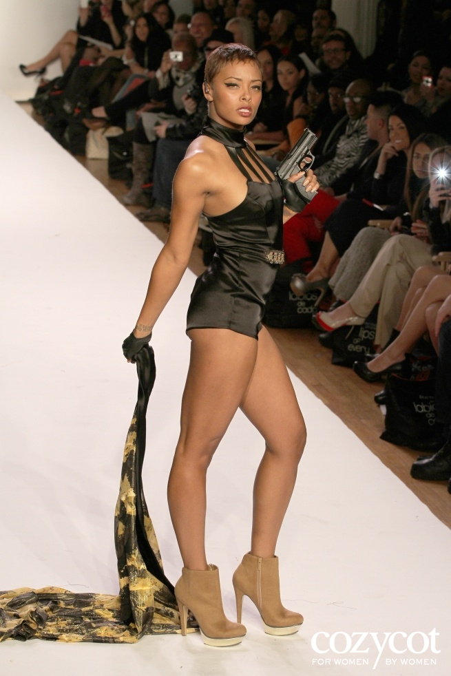 Eva Pigford Marcille celebrity Next Top Model Sachika Fall 2012 NYFW