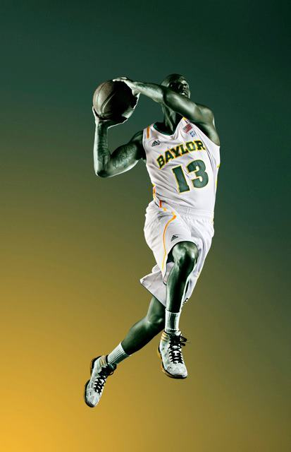 Baylor University Adidas NCAA basketball uniform ad
