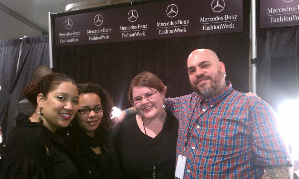 Backstage makeup team at New York Fashion Week
