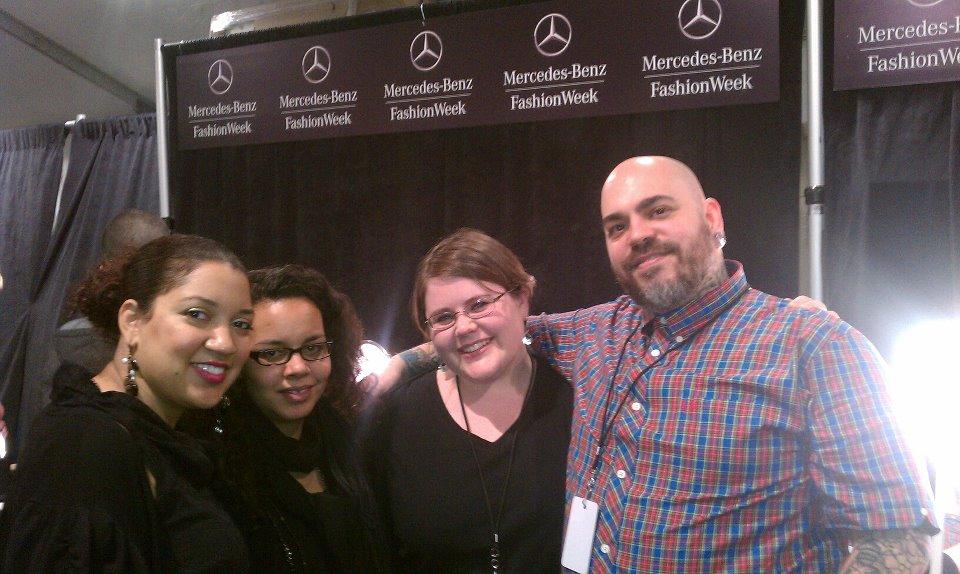 Backstage makeup team at New York Fashion Week