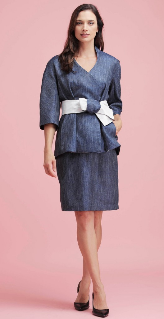 ladies-womens-jacket-blue-bamboo-silk-belted-kimono-origami-jacket-wrap-teresa-crowninshield-pleated-matching-skirt-crown-coats-3