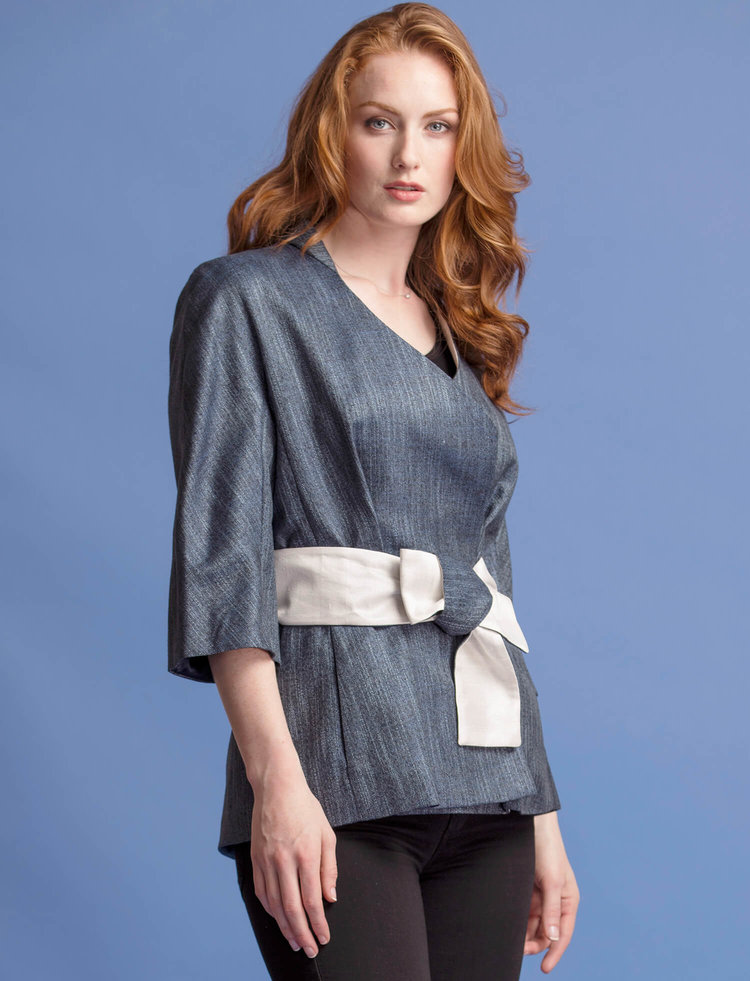 ladies-womens-kimono-belted-blazer-jacket-blue-bamboo-origami-hand-woven-thai-silk-lining-matching-bamboo-skirt-matching-obie-sash-teresa-crowninshield-crown-coats-made-in-usa-3