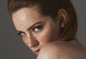 freckled redhead natural makeup