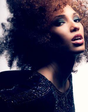 teal smokey makeup african american