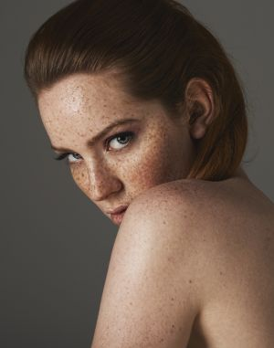 freckled redhead natural clean makeup