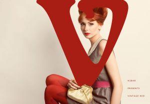 Vintage makeup 1960s red lips beehive redhead